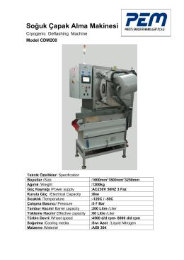 Soğuk Çapak Alma Makinesi