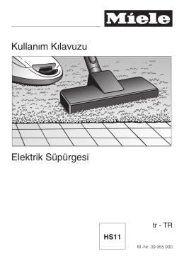 Kullanım Kılavuzu Elektrik Süpürgesi