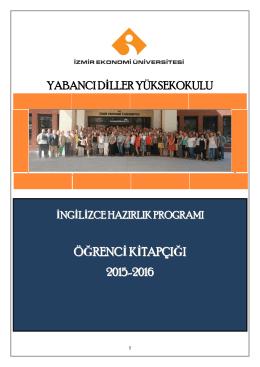 İNGİLİZCE HAZIRLIK PROGRAMI - İzmir Ekonomi Üniversitesi