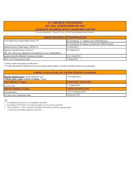 2015-2016 eğitim-öğretim yılı ingilizce hazırlık sınıfı akademik