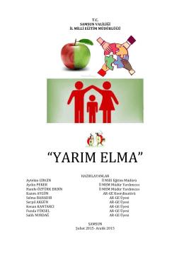 yarım elma - Samsun Milli Eğitim Müdürlüğü