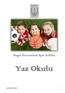 yaz okulu - Muğla Sıtkı Koçman Üniversitesi