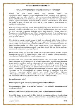Sorumluluk Konulu Hikaye - Güzelkent Anadolu Lisesi