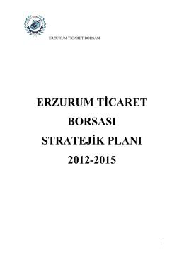 2012-2015 Yılı Stratejik Planı