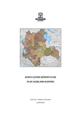 Konya ÇDP Plan Açıklama Raporu