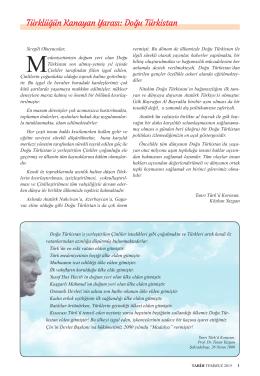 Türklüğün Kanayan Yarası: Doğu Türkistan