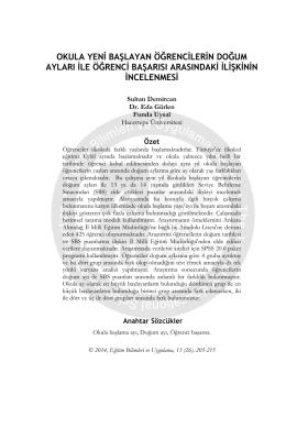tam metin - Eğitim Bilimleri ve Uygulama Dergisi