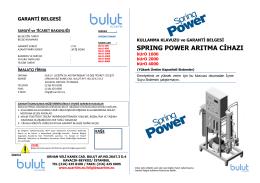 bUrO Spring Power Yüksek Kapasiteli Su Artıma Sistemleri