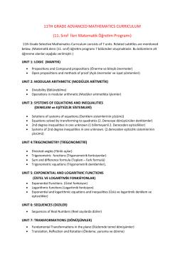 11. sınıf ders bilgileri
