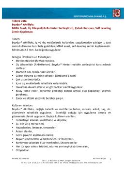 Teknik Data Boydur® Akrifleks