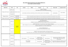 özel sevinç eğitim kurumları 2015-2016 eğitim öğretim yılı genel