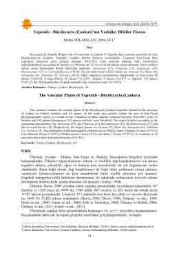 Özet - Düzce Üniversitesi Ormancılık Dergisi | Anasayfa