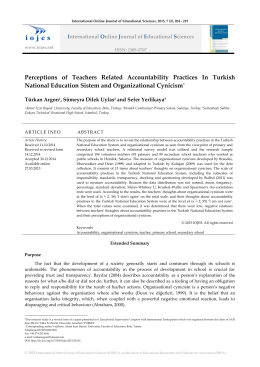 Perceptions of Teachers Related Accountability Practices In Turkish