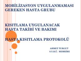 Hasta Kısıtlamaları - Bülent Ecevit Üniversitesi Sağlık Uygulama ve