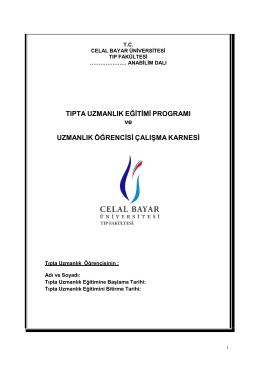 Kardiyoloji Anabilim Dalı - Celal Bayar Üniversitesi
