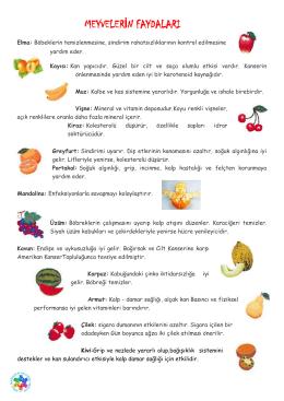 meyvelerin faydaları