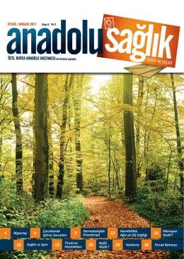Anadolu Sağlık Dergisi Sayı 03