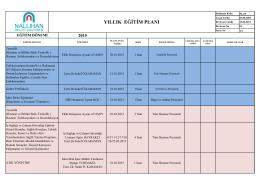 yıllık eğitim planı