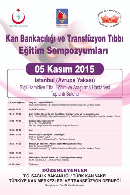 05 Kasım 2015 Sempozyum Programı