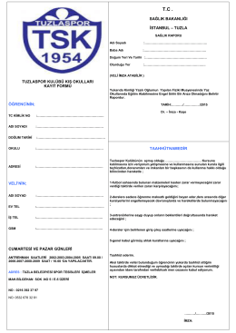 Futbol Okulu Kayıt Formu