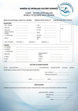 sutopu spor dalları sporcu yetiştirme kayıt belgesi