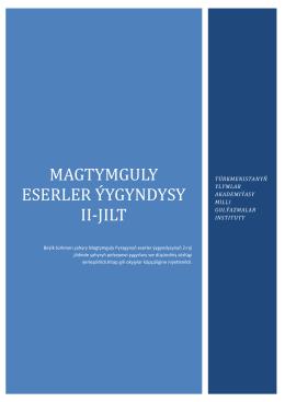 Magtymguly Pyragy 2 kitap