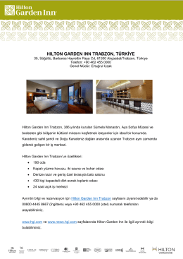 Hilton Garden Inn Trabzon Fact Sheet (Turkish)