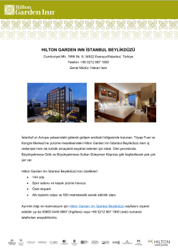 Hilton Garden Inn Istanbul Beylikduzu Fact Sheet (Turkish)