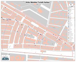 Ahiler Mahallesi Turistik Haritası