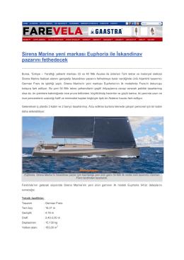 Sirena Marine yeni markası Euphoria ile İskandinav pazarını