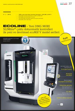 37 – Yeni DMG MORI SLIMline® çoklu dokunmatik kontrolleri ile