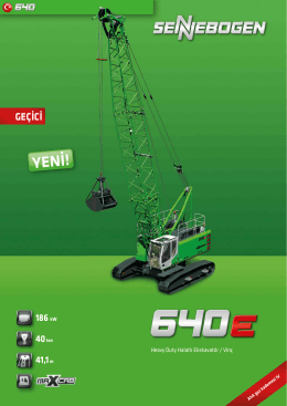YENİ! - SENNEBOGEN Maschinenfabrik GmbH
