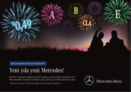 Yeni yıla yeni Mercedes!