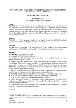 Genel Destek Programı