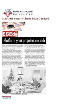 04.05.2015 Pazartesi İzmir Basın Gündemi
