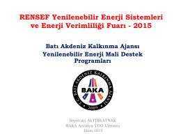 2015 Mali Destek Programı