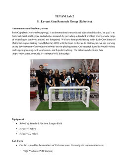 TETAM Lab 2 H. Levent Akın Research Group (Robotics)