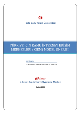türkiye için kamu internet erişim merkezleri (kiem) model