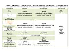 Çalıştay Programı - Duvarsız Eğitim Çalıştayı