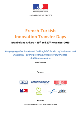 French-Turkish Innovation Transfer Days