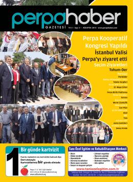Perpa Kooperatif Kongresi Yapıldı