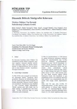 Dinamik Böbrek Sintigrafisi