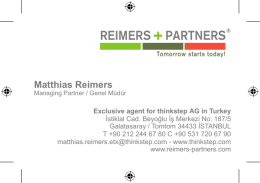 REIMERS PARTNERS Istanbul!