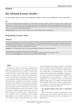 İlaç Salınımlı Koroner Stentler_Kardiyoloji