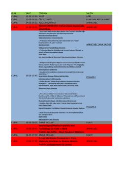 gün saat etkinlik salon cuma 10:30-12:30 kayıt