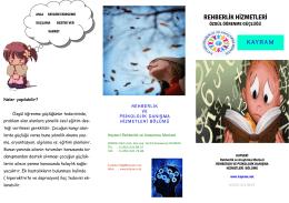 Özgül Öğrenme Güçlüğü - Kayseri Rehberlik ve Araştırma Merkezi