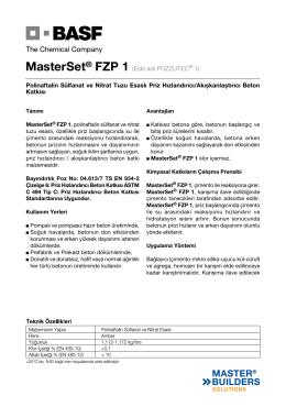 MasterSet® FZP 1 (Eski adı POZZUTEC® 1