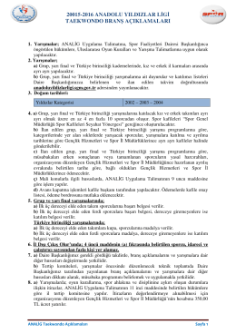 20015-201 TAEKWONDO 2016 ANADOLU YILDIZLAR LG