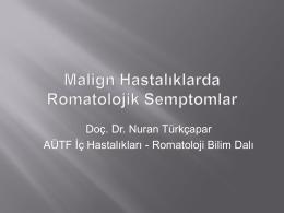Romatoloji Malignite - romatizmahastaliklari.com