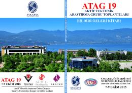 ATAG-19 bildiri özleri için tıklayınız
